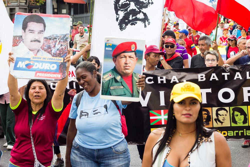 Großdemonstration in Caracas am 23. Januar zur Unterstützung von Präsident Maduro und gegen den Putschversuch